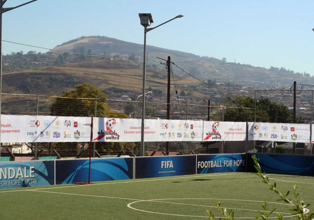 Football for hope football pitch